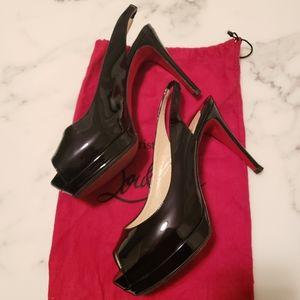 Black patent leather Louboutin